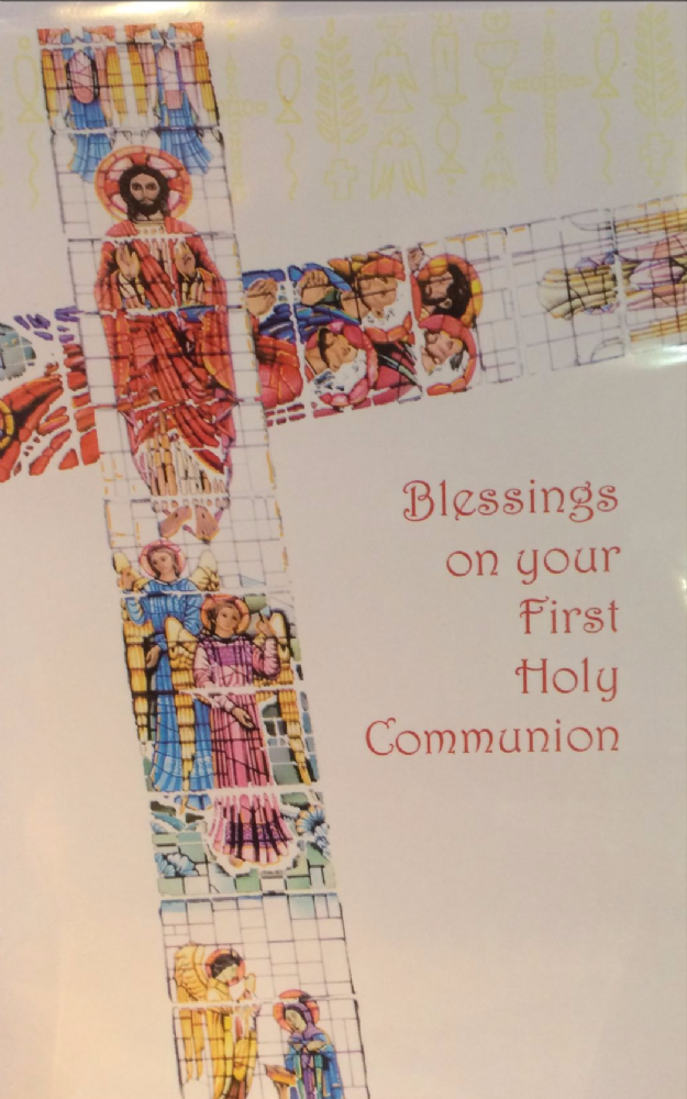Blessings on your First Holy Communion, Stained glass window